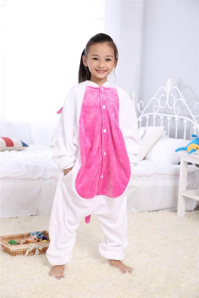 eea59c74da67 Кигуруми Единорог бело розовый - Купить пижаму для девочек